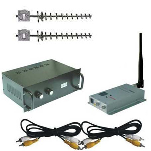 Kit trasmissione audio/video wireless 2,4ghz 10watt 4 canali