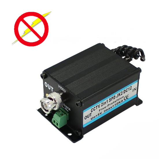 CCTV surge protector 12V 10ka protezione 3 in 1 bnc - dc - rs485