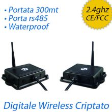 Trasmettitore audio video wireless criptato impermeabile + rs485