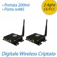 Trasmettitore audio video wireless digitale + RS485