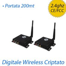 Trasmettitore audio video wireless digitale criptato